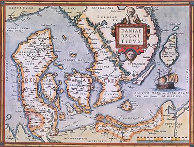danmark kort 1700